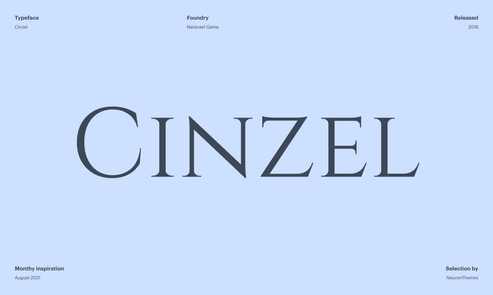 Cinzel - Free Beautiful Google Fonts 2021