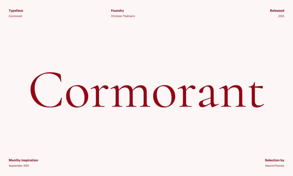 Cormorant - Beautiful and free Google Fonts