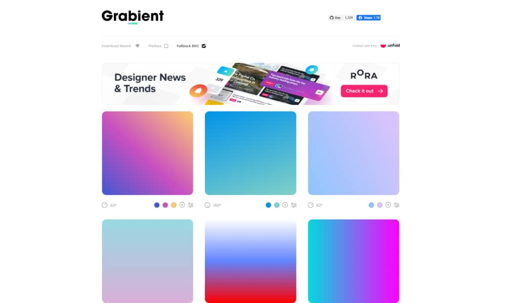 Create Free Gradient Website Online
