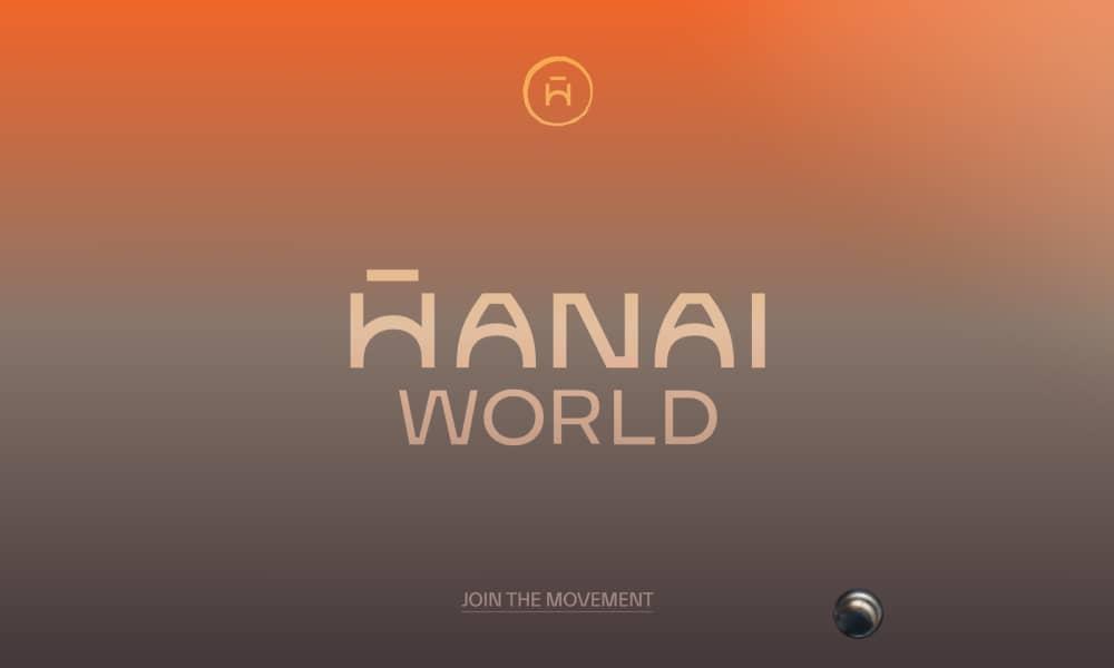 Hanai World website - Use of gradients in web design