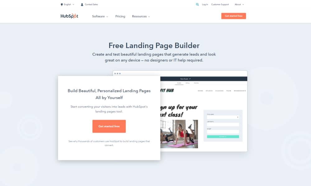 HubSpot - Landing Page Builder