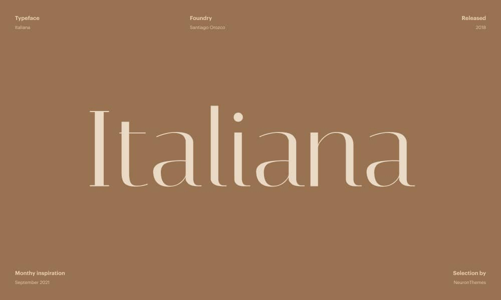 Italiana - Free font download from Google Fonts