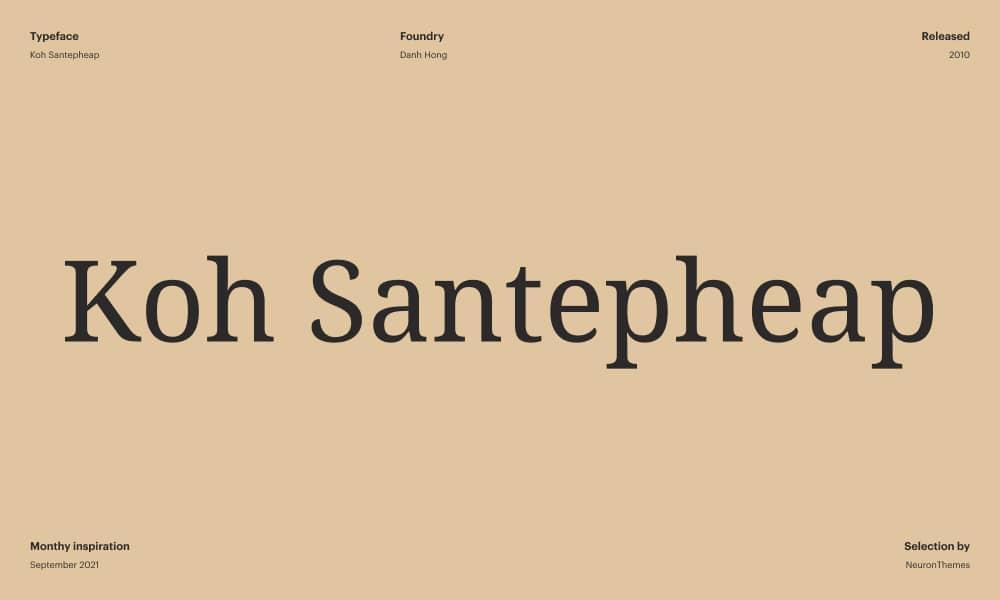 Koh Santepheap Best Free Google Fonts for 2021 1