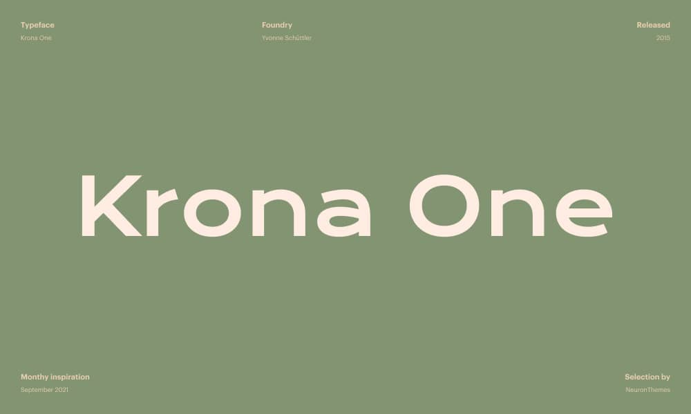 Krona One - Free font download from Google Fonts