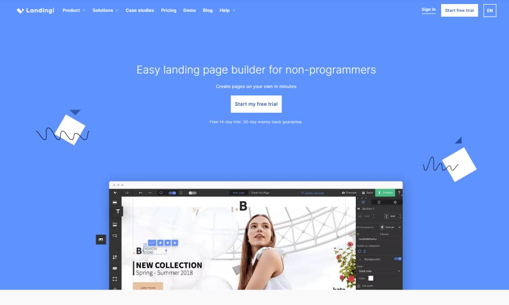 Landingi - Powerful Landing Page builder and contests