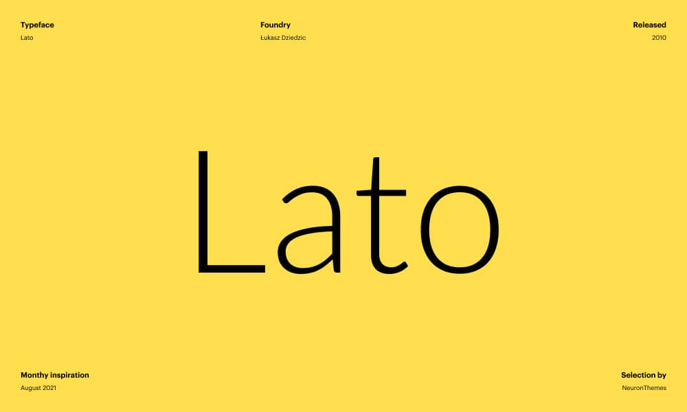 Lato - Free Beautiful Google Fonts 2021