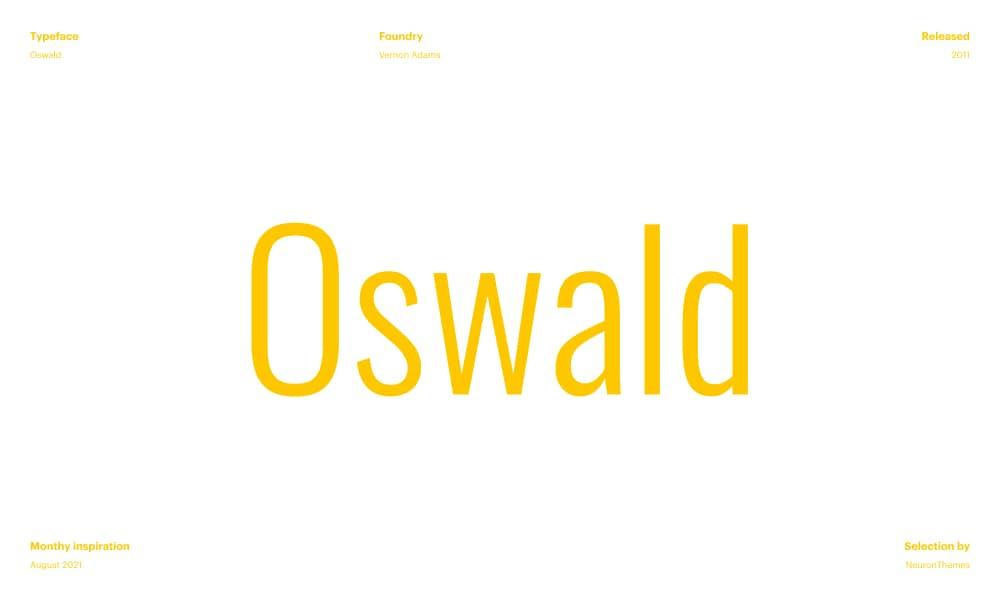 Oswald - Best Free Beautiful Google Fonts 2021