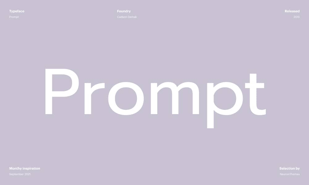 Prompt - Free font download from Google Fonts in 2021