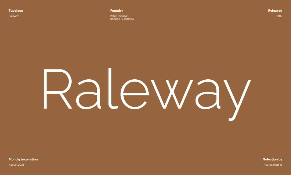 Raleway - Free Beautiful Google Fonts 2021