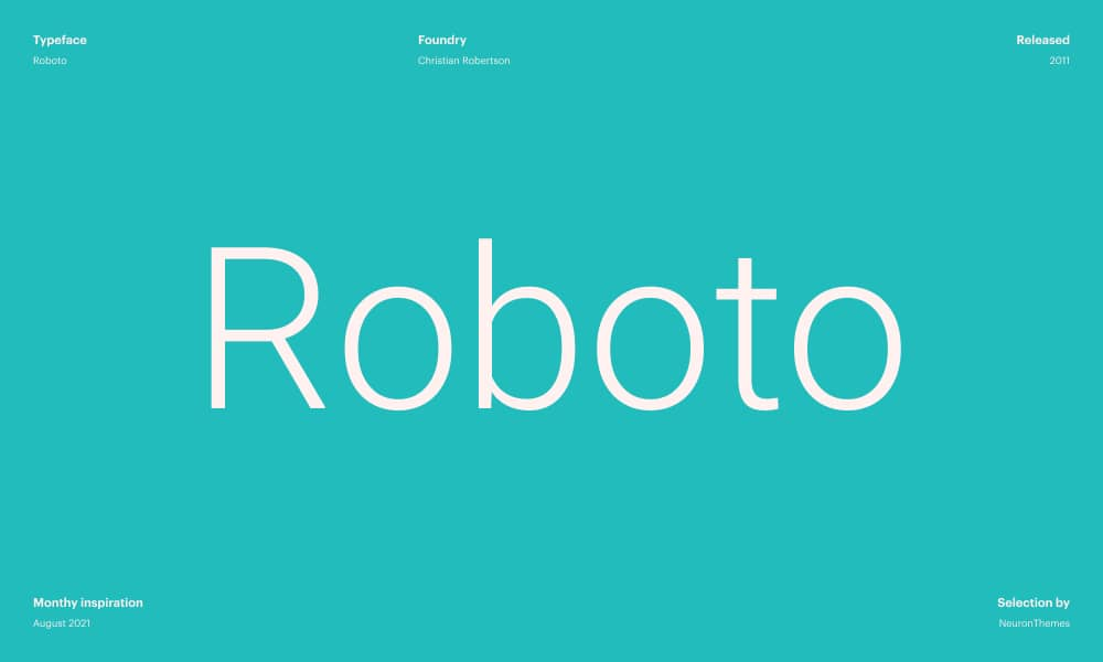 Roboto - Best Free Google Fonts in 2021