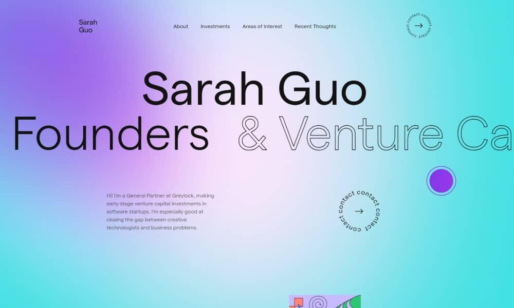 Inspiring Gradient Websites - Sara Guo