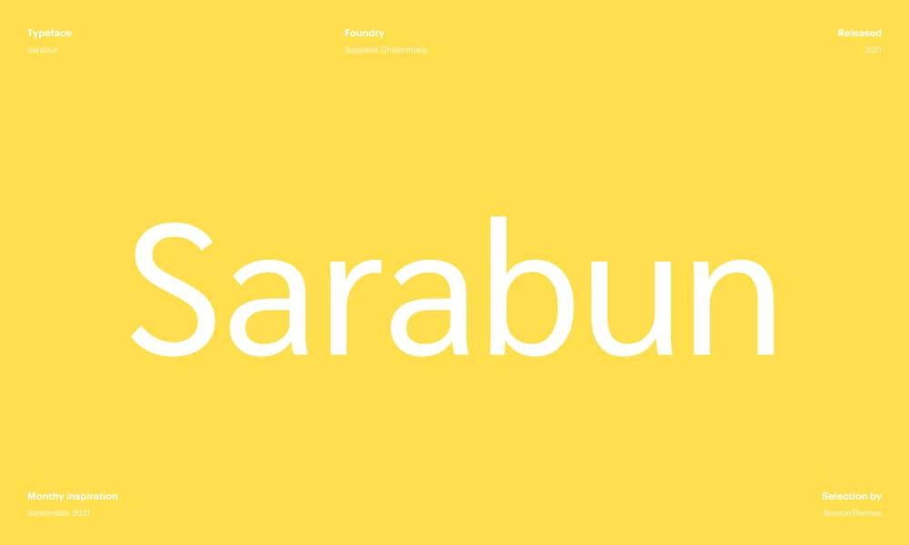 Sarabun - Beautiful free Google fonts