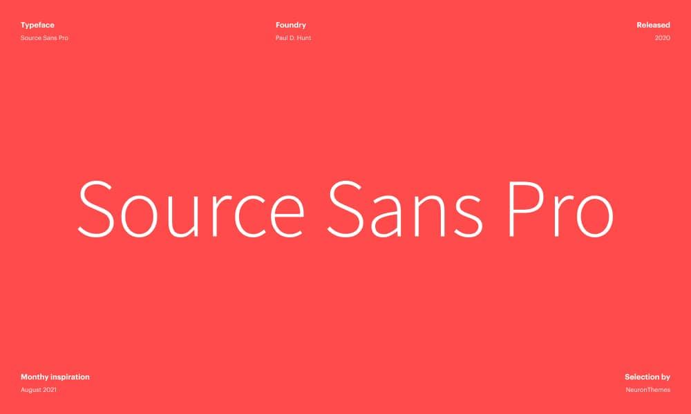 Source Sans Pro - Beautiful Free Google Fonts 2021