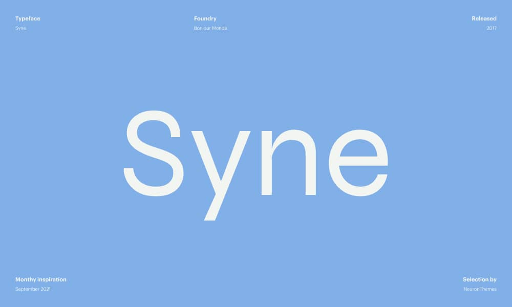 Syne - Free font download from Google Fonts