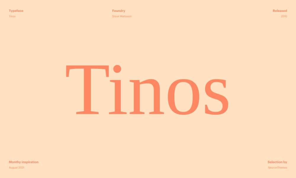 Tinos - Beautiful Google Fonts 2021