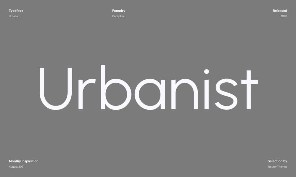 Urbanist - Best Free Beautiful Google Fonts 2021