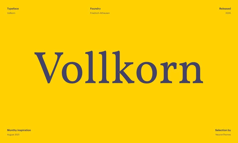 Volkorn - Free beautiful Google Font