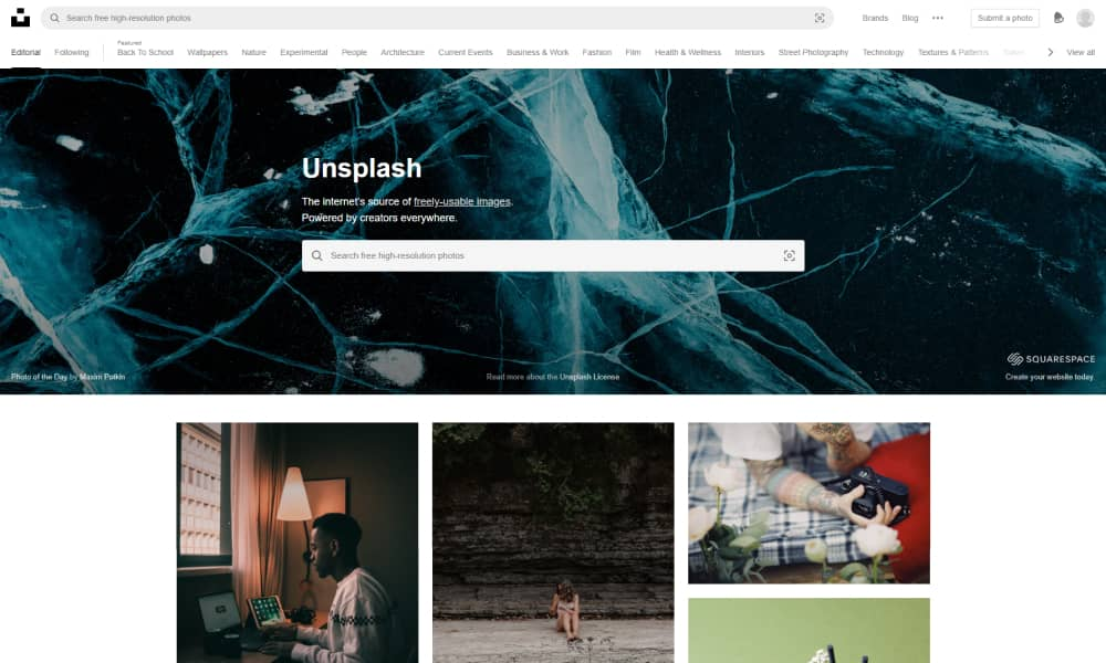 Unsplash - Find free stock photos and images